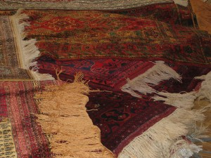 Carpets of silk and wool.