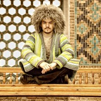 A man in national dress in Khiva